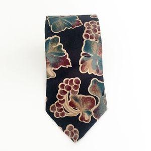CHRISTIAN DIOR monsieur vintage grapes necktie